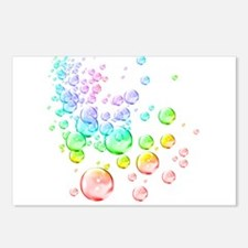 Colored bubbles Postcards (Package of 8)