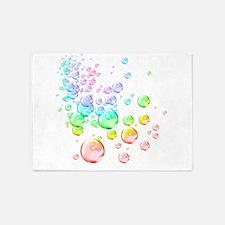Colored bubbles 5'x7'Area Rug