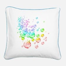 Colored bubbles Square Canvas Pillow
