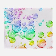 Colored bubbles Throw Blanket