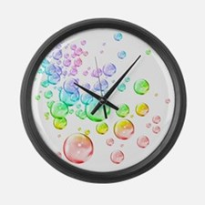 Colored bubbles Large Wall Clock