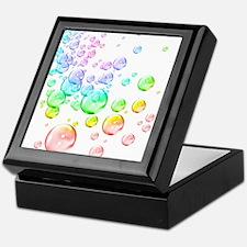 Colored bubbles Keepsake Box