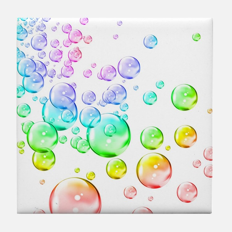 Bubble Colors Rainbow Coasters | Cork, Puzzle & Tile ...