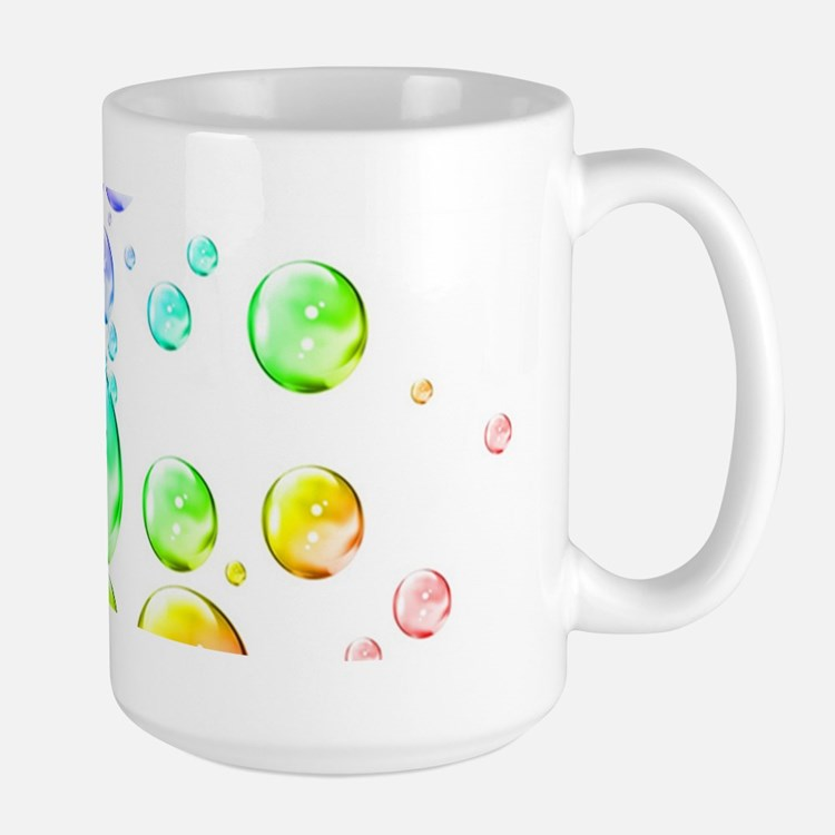 Colored bubbles Large Mug
