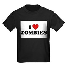 I Love [Heart] Zombies Ash Grey T-Shirt T-Shirt