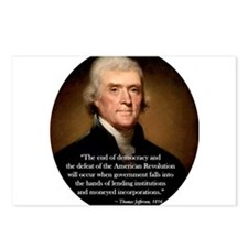 thomas jefferson Postcards (Package of 8)
