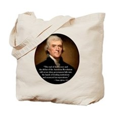 thomas jefferson Tote Bag