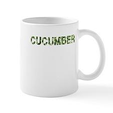 Cucumber, Vintage Camo, Mug