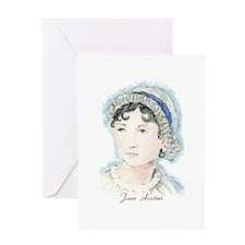 Jane Austen Painting Greeting Card