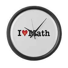Cute Math funny Large Wall Clock