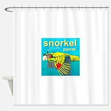 Snorkel Parrot Shower Curtain