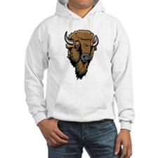 Buffalo Head Drawing Hoodie