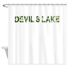 DevilS Lake, Vintage Camo, Shower Curtain