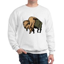 Bison Drawing Sweatshirt