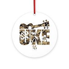 The Uke Camo Ornament (Round)