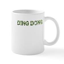 Ding Dong, Vintage Camo, Small Mug