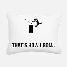 Parkour Rectangular Canvas Pillow