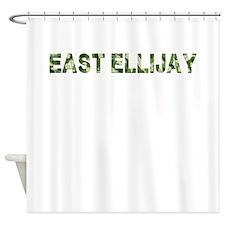 East Ellijay, Vintage Camo, Shower Curtain