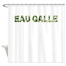 Eau Galle, Vintage Camo, Shower Curtain
