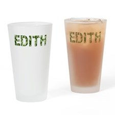 Edith, Vintage Camo, Drinking Glass