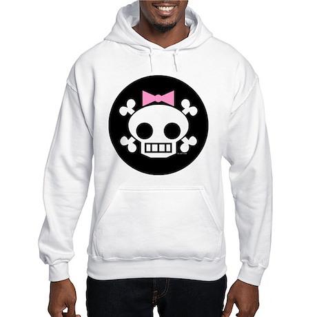 Skull Baby Girl Hooded Sweatshirt