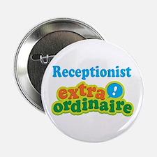 "Receptionist Extraordinaire 2.25"" Button (10 pack)"