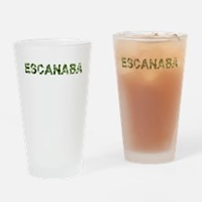 Escanaba, Vintage Camo, Drinking Glass