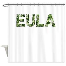 Eula, Vintage Camo, Shower Curtain
