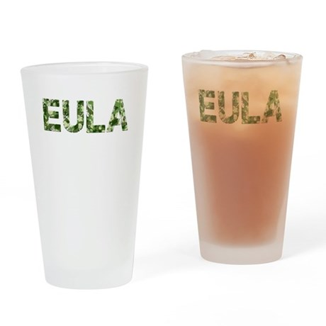 Eula, Vintage Camo, Drinking Glass