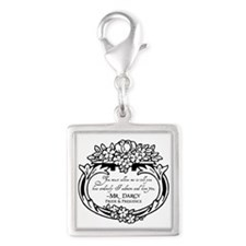 Mr Darcy Pride and Prejudice Silver Square Charm