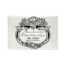 Mr Darcy Pride and Prejudice Rectangle Magnet