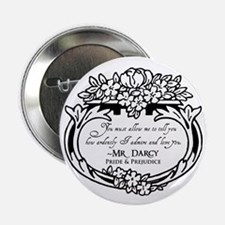 "Mr Darcy Pride and Prejudice 2.25"" Button (10 pack"