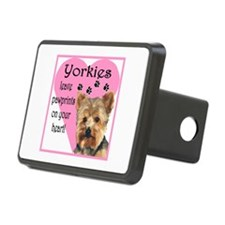 Yorkies Paws Heart Rectangular Hitch Cover