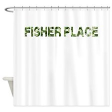 Fisher Place, Vintage Camo, Shower Curtain