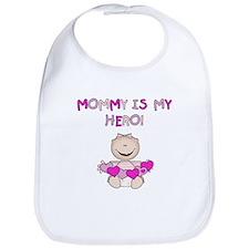 Mommy is My Hero (Girl) Bib