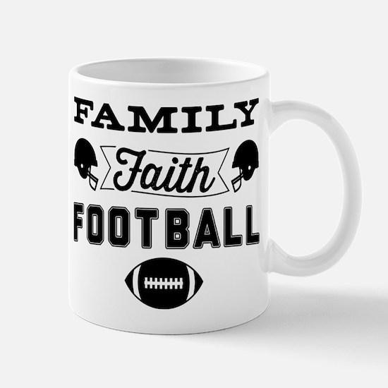 Family Faith Football Mug