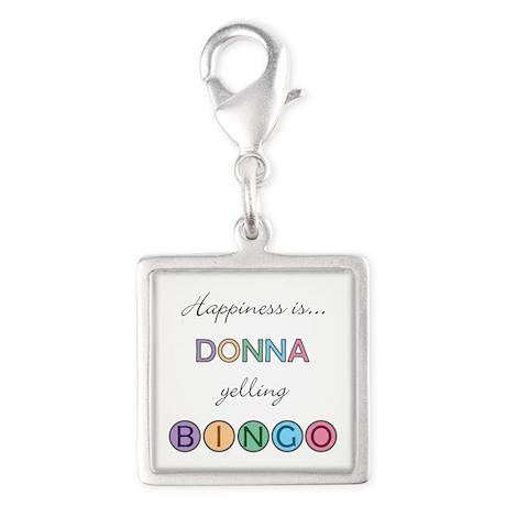 Donna Yelling BINGO Silver Square Charm