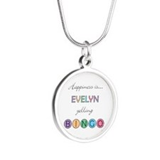 Evelyn Yelling BINGO Silver Round Necklace