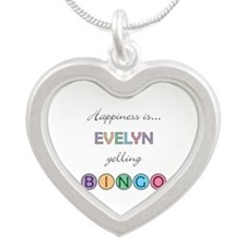 Evelyn Yelling BINGO Silver Heart Necklace