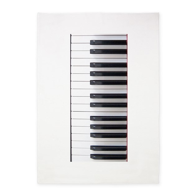 Piano Keyboard 3 5'x7'Area Rug By Musicalartworks
