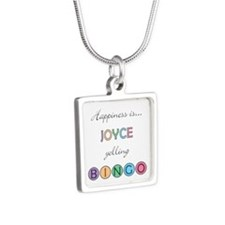 Joyce Yelling BINGO Silver Square Necklace