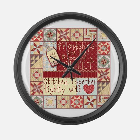 Cool Quilters Large Wall Clock