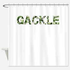 Gackle, Vintage Camo, Shower Curtain