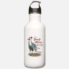 Sandy Claws is coming to town! Water Bottle