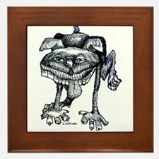 Dog peeing Framed Tile