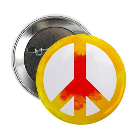 """Yellow Peace Sign 2.25"""" Button (100 pack)"""
