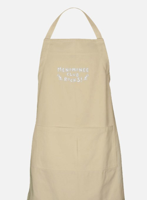 Menomonee Club Rocks black background Apron