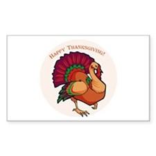Happy Thanksgiving Turkey Rectangle Decal