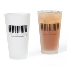Piano Keyboard 6 Drinking Glass