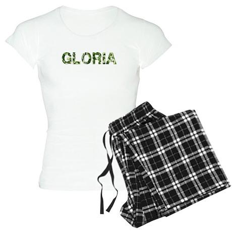 Gloria, Vintage Camo, Women's Light Pajamas